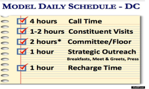 daily schedule congress