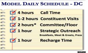 daily schedule congress
