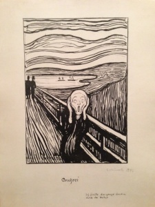 The Scream by Edvard Munch, Lithograph